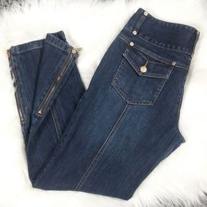 [Michael kors] Cute Ankle Zip Cropped Jeans